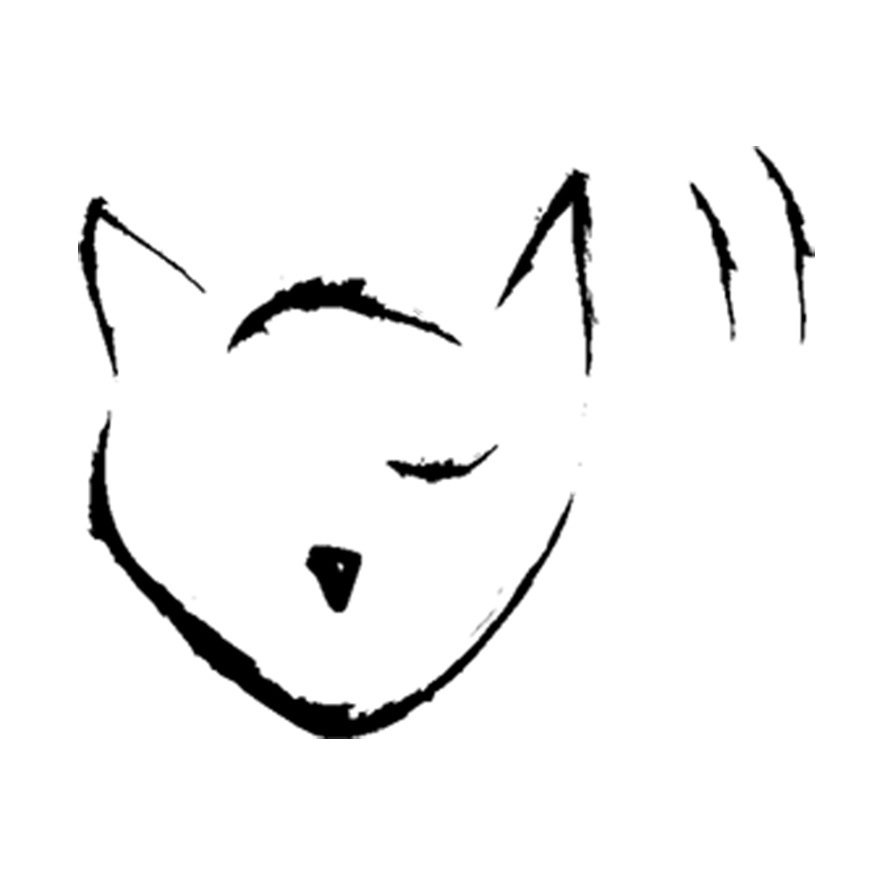 Whiney Cat Audio cat logo.